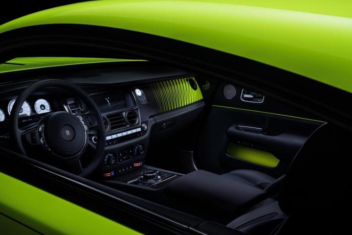Rolls-Royce Wraith, interiér vozu