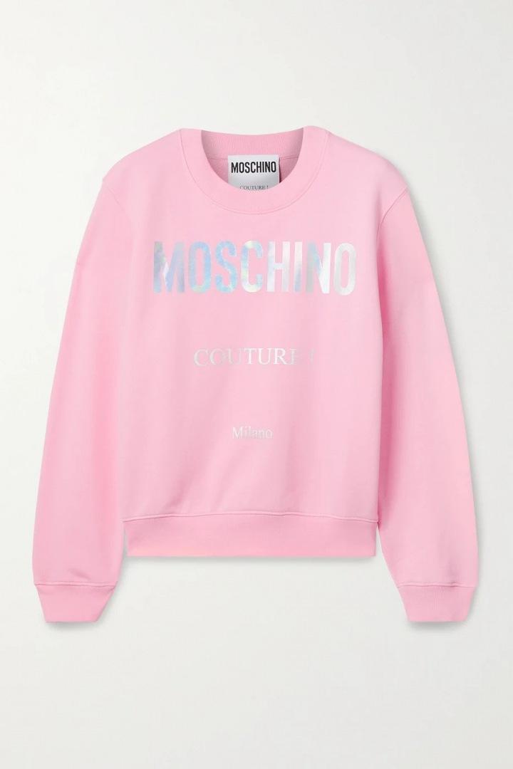 Růžová mikina Moschino