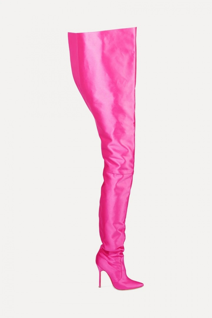 Růžové kozačky Vetements