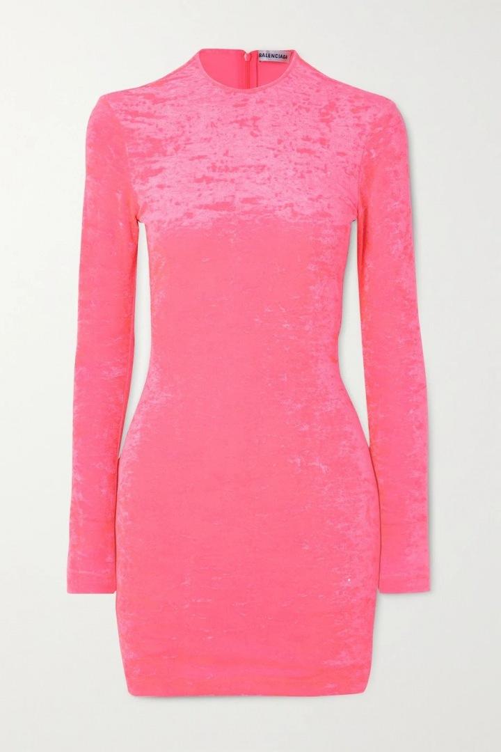 Růžové mini šaty Balenciaga