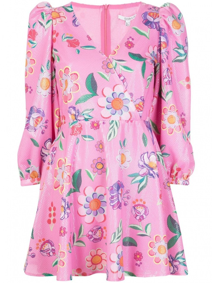 Růžové mini šaty Olivia Rubin