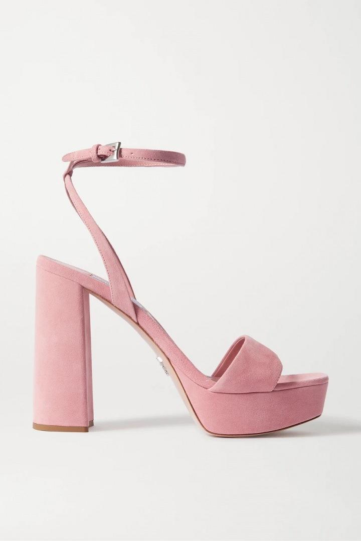Růžové sandálky Prada