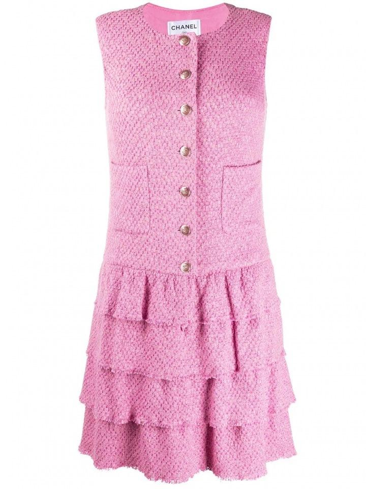 Růžové šaty Chanel