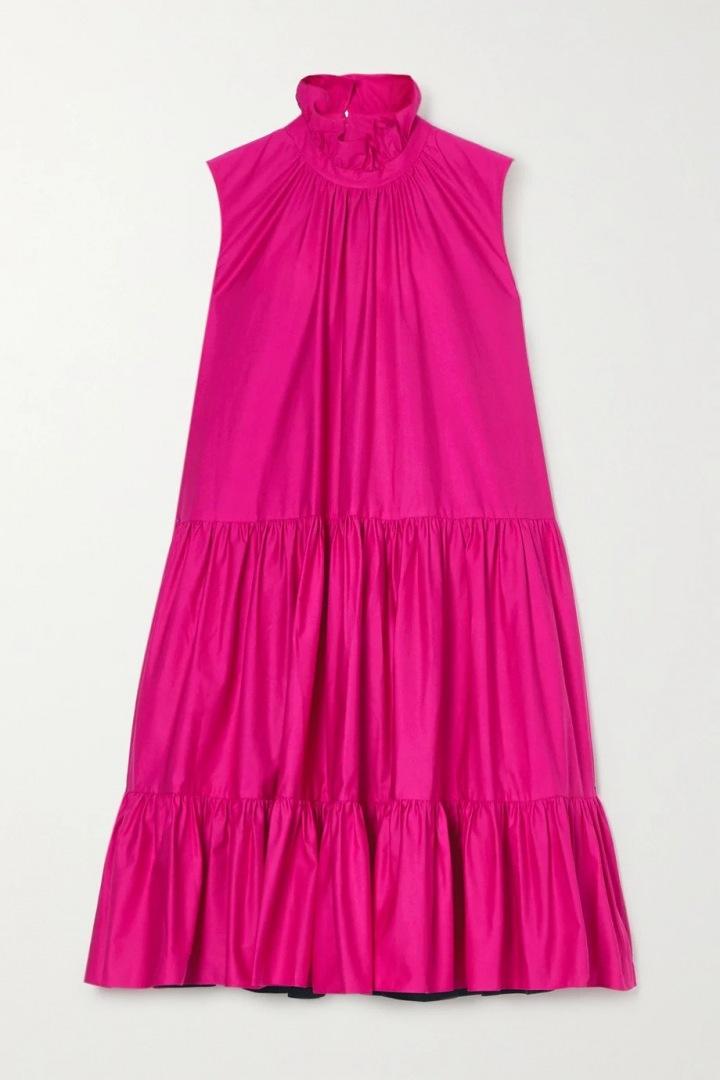 Růžové šaty ROKSANDA