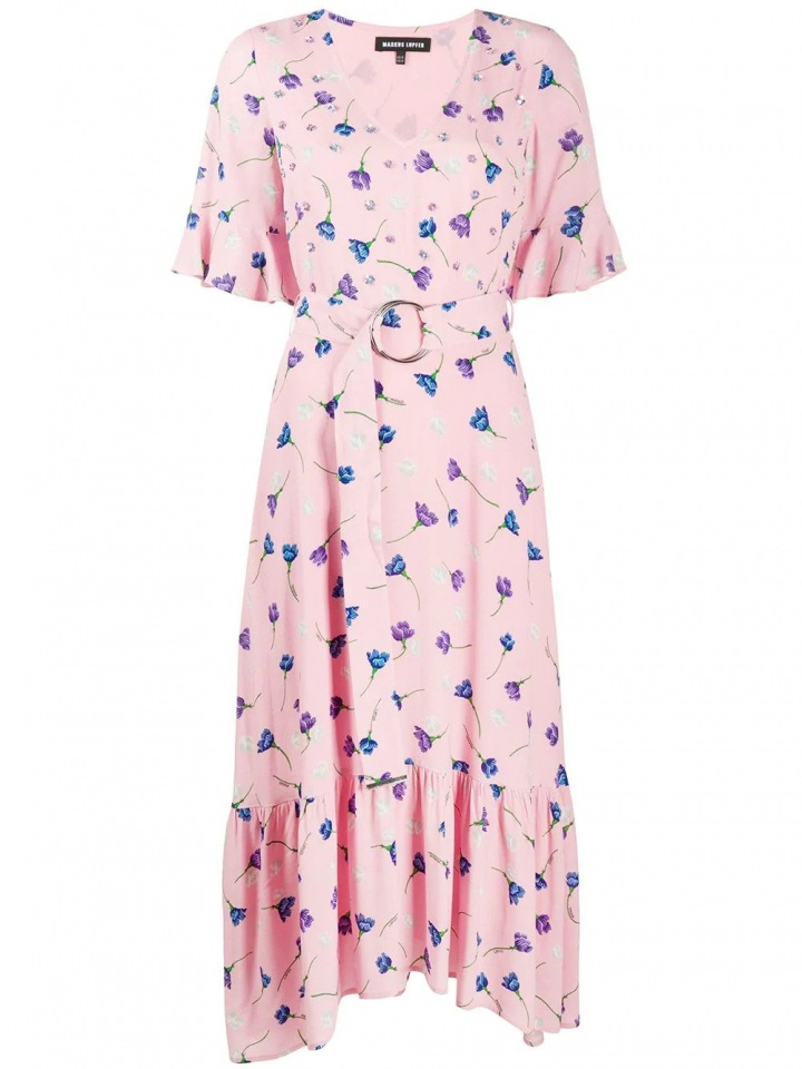 Růžové šaty s květinami Markus Lupfer