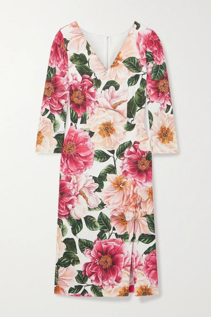 Šaty Dolce & Gabbana s květinovým potiskem