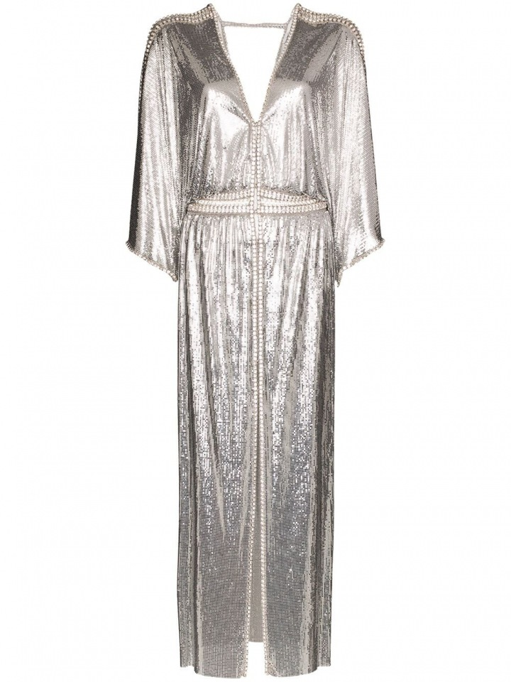 Stříbrné šaty Paco Rabanne
