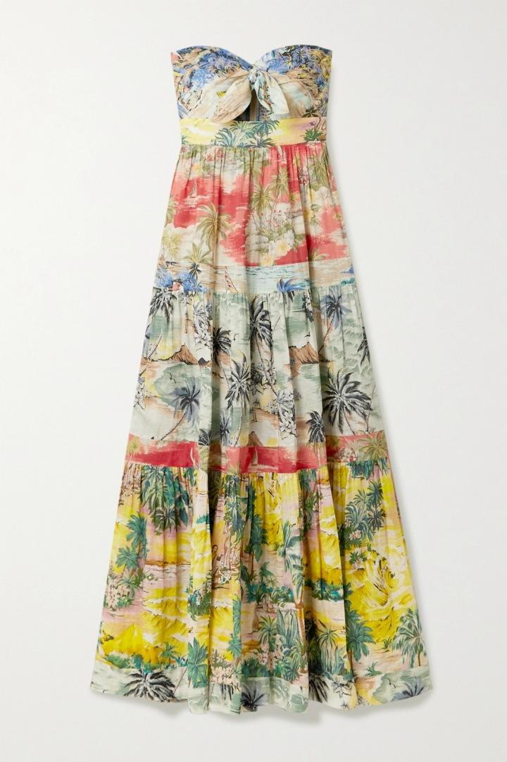 Šaty s tropickým motivem Zimmermann