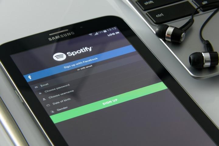 Mobilní aplikace Spotify