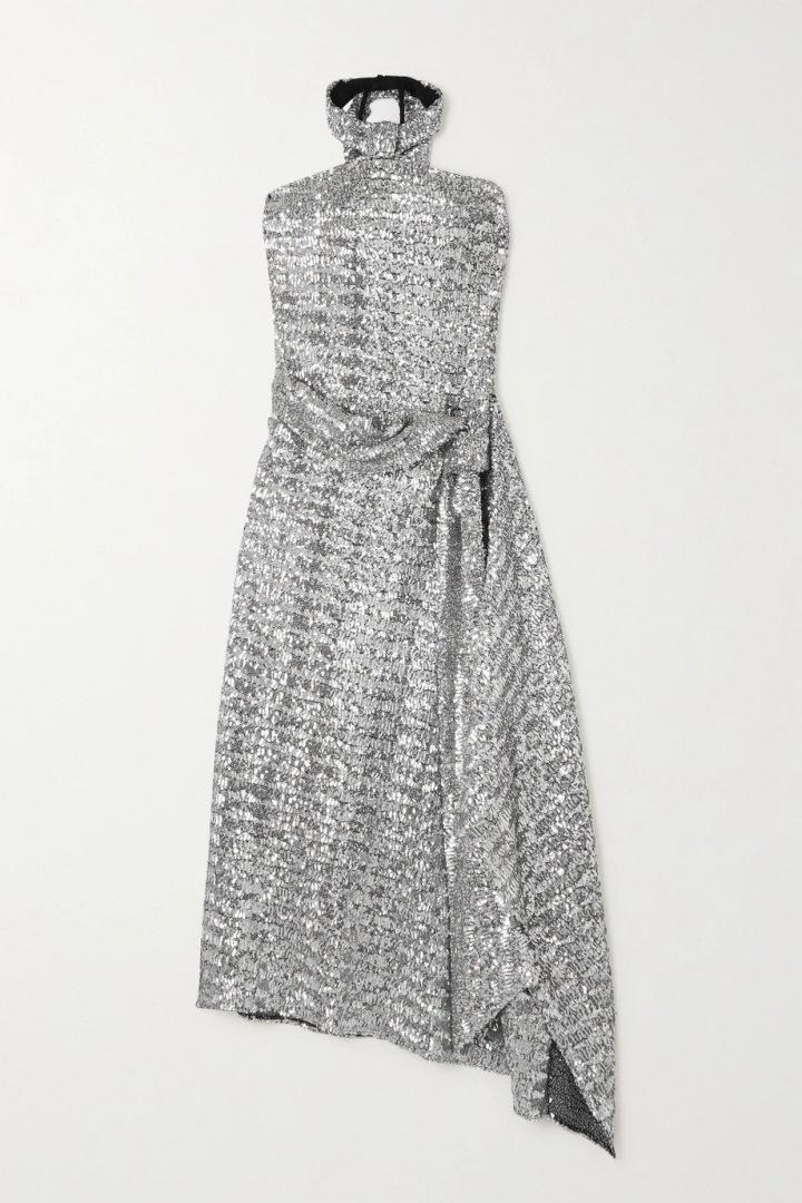 Stříbrné šaty Roland Mouret