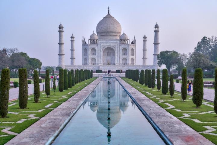 Monumentální pomník Tádž Mahal v Indii