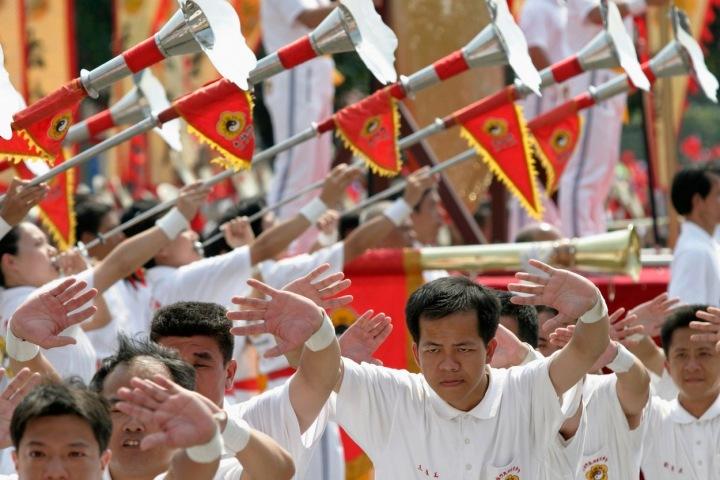 Tchajwanské oslavy v ulicích