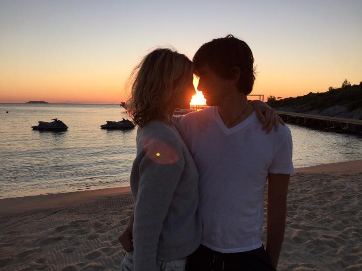 Tereza Maxová s manželem.