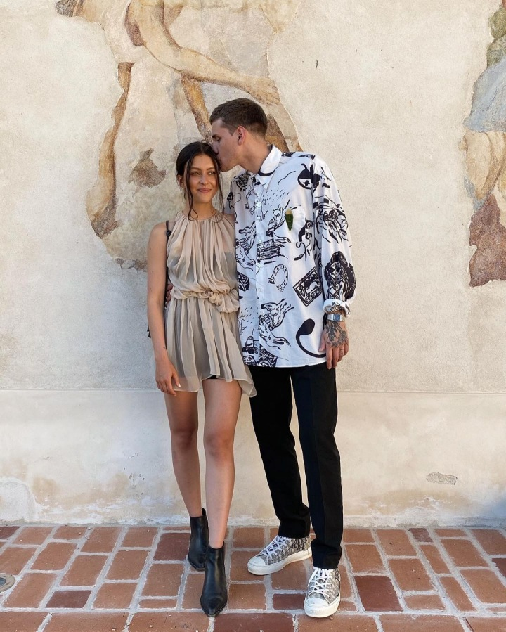 Tereza Hodanová alias Teri Blitzen se svým přítelem