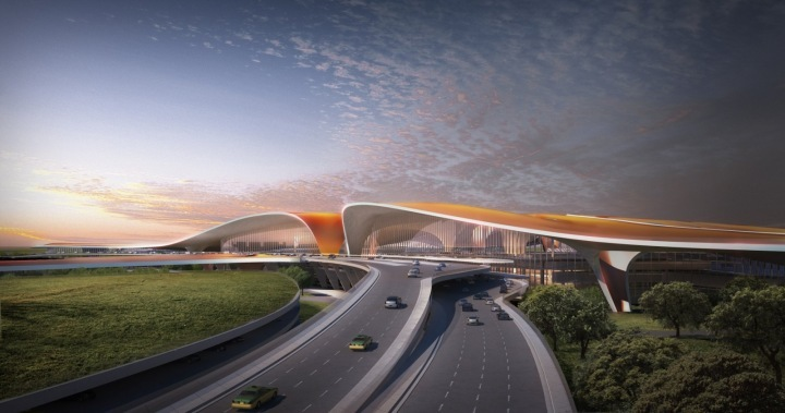 Airport in Beijing, a project of Zaha Hadid