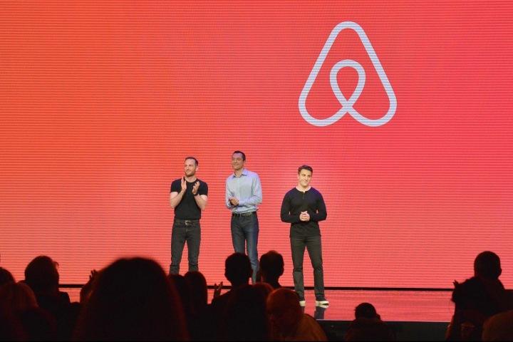 Tři zakladatelé firmy Airbnb.