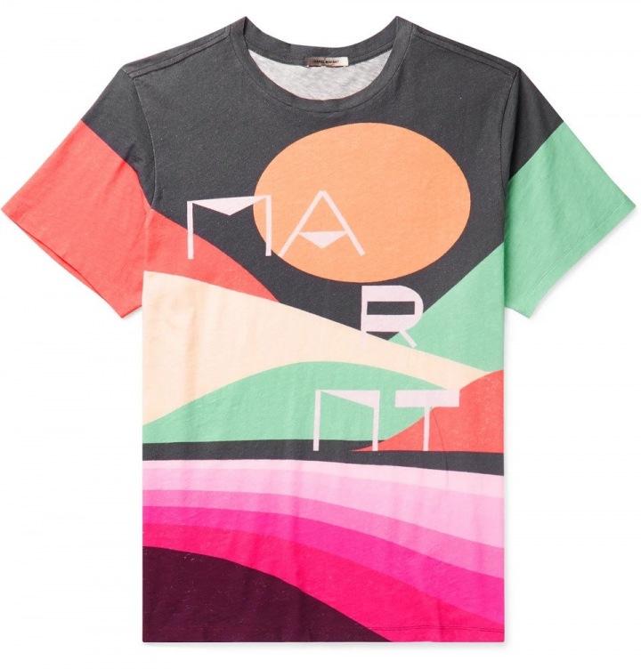 Barevné pánské triko Isabel Marant