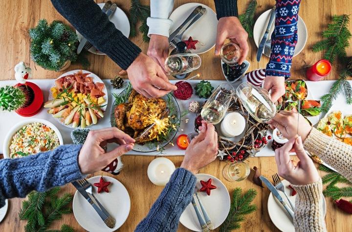 Vánoční stolování.
