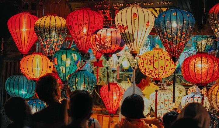 Vánoční trh v Číně