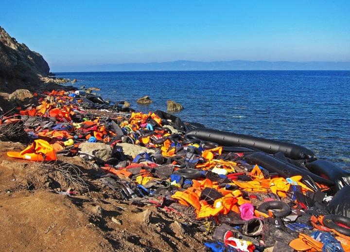 Věci z uprchlických lodí.