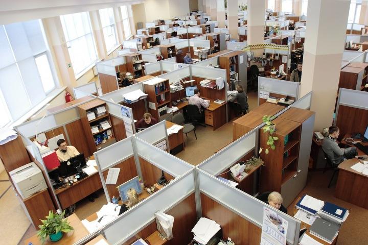 Velká kancelářská plocha