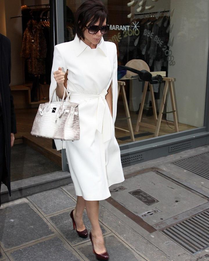 Victoria Beckham s kabelkou Hermès Birkin