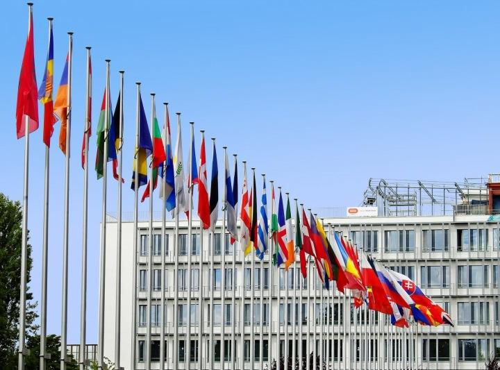 Vlajky EU.