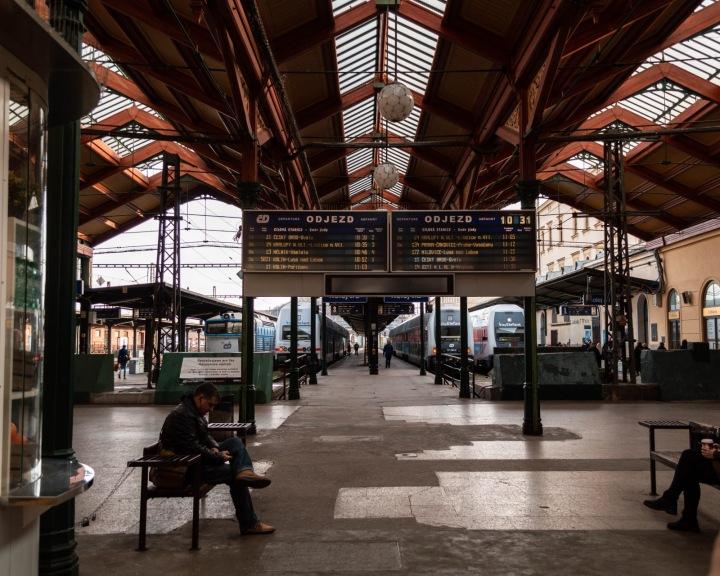 Vlakové Masarykovo nádraží v Praze