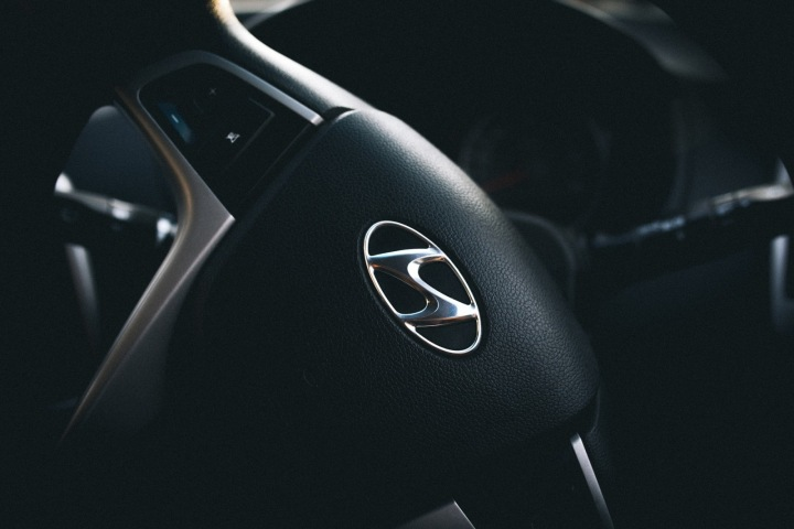 Volant vozu Hyundai.