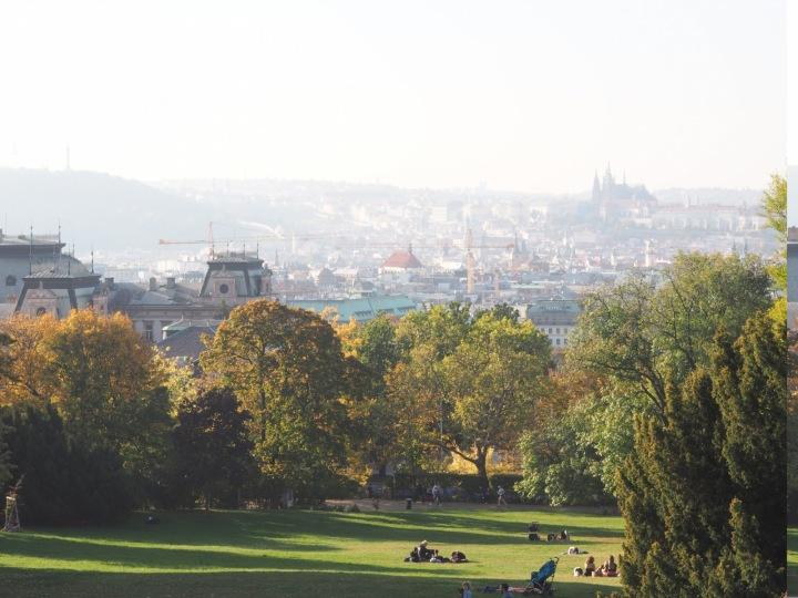 Výhled na panorama Prahy