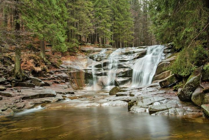 Mumlavský vodopád - cca 10 metrů