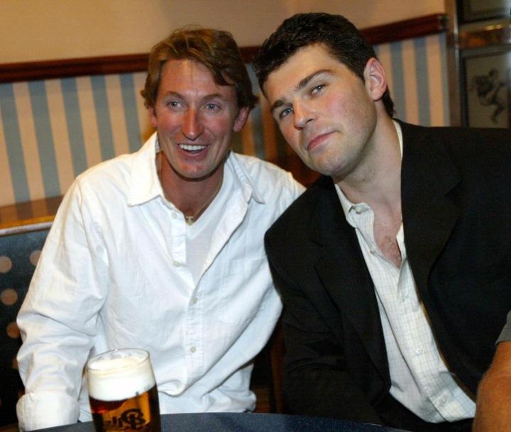 Wayne Gretzky a Jaromír Jágr.