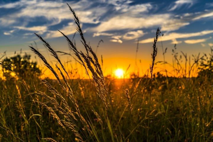 Meditace při západu slunce