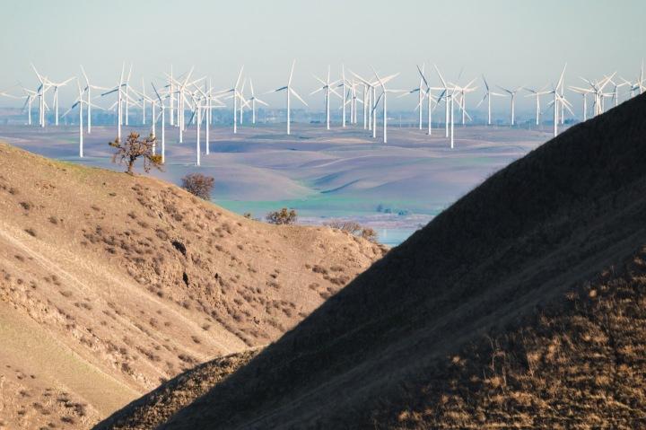 Větrné mlýny v Kalifornii
