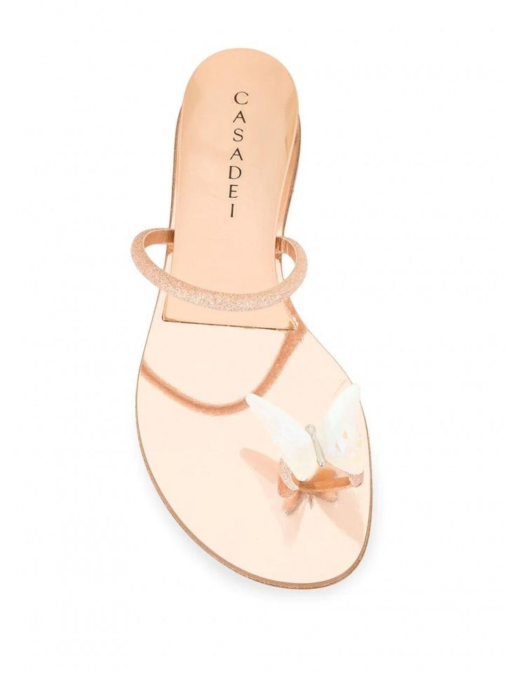 Zlaté sandálky Casadei