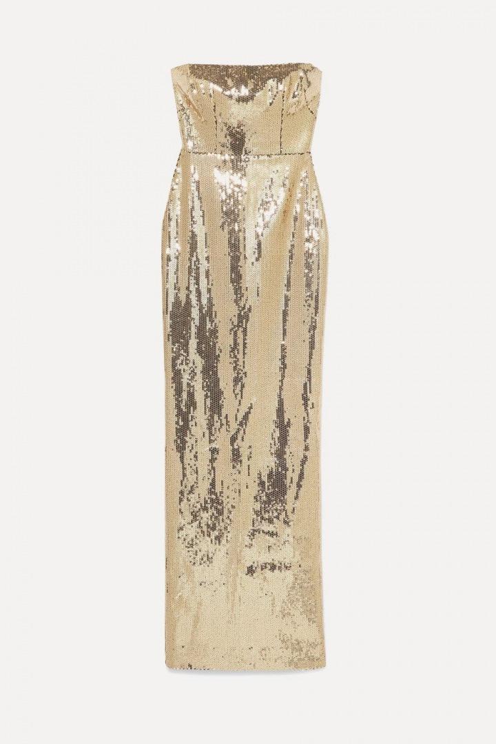 Zlaté šaty Alex Perry
