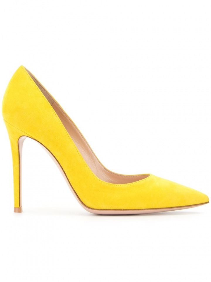 Žluté lodičky Gianvito Rossi