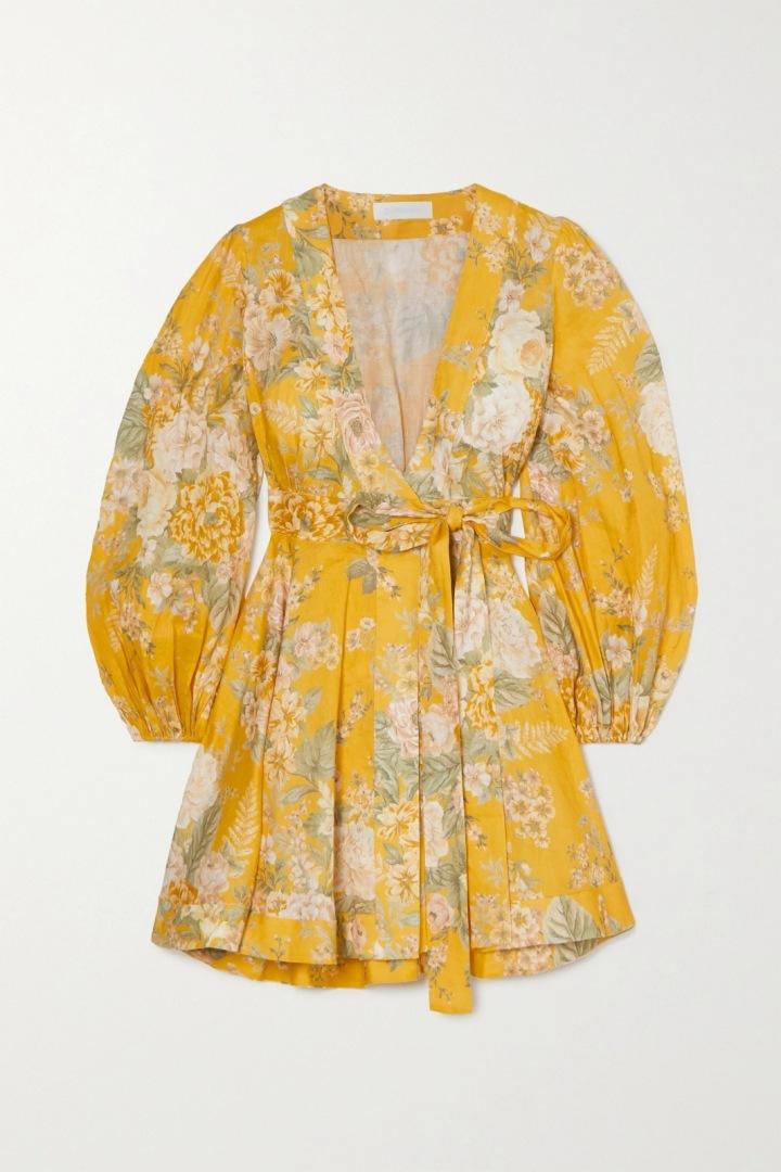 Žluté mini šaty Zimmermann