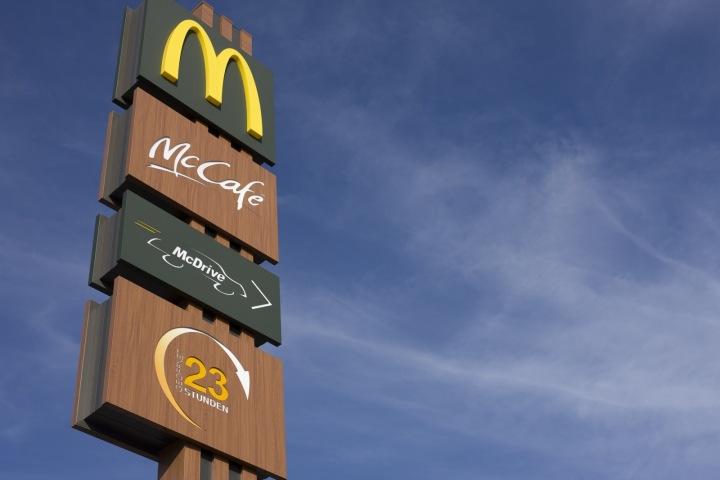 Značka firmy McDonald.