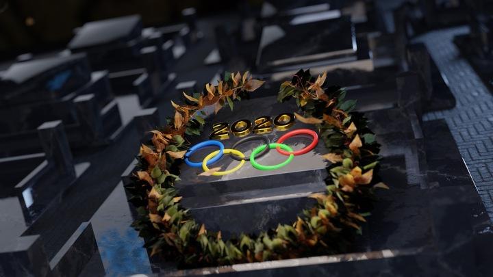 Symbol olympismu – pět navzájem se protínajících kruhů