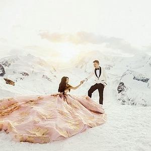 Luxusní svatba na sněhu