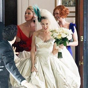 Wedding dress by Vivienne Westwood.
