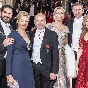 Clemens Unterreiner, Nadja Swarovski, Dominique Meyer, Lidia Baich, Andreas Schager, Maria Großbauer
