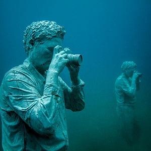 Podmořské muzeum Atlántico, sochy fotografové