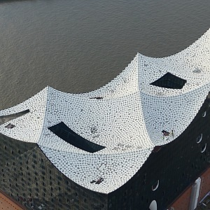 Elbphilharmonie pohled na detail střechy