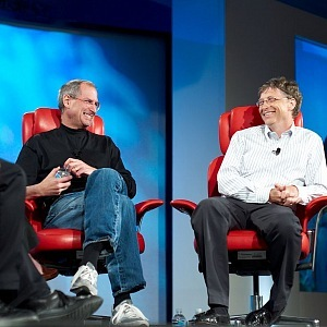 "B. Gates and S. Jobs at ""All Things Digital conference"""