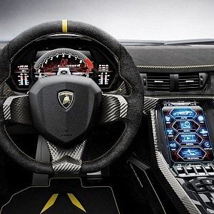 Lamborghini Centenario, kupé, interiér