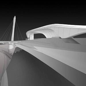 Proposal of Nordpark, Zaha Hadid