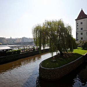 Luxurious part of Prague near Vltava