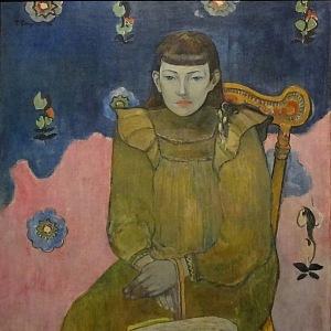 Paul Gauguin, Portrét mladé ženy.Vaïte (Jeanne) Goupil, 1896